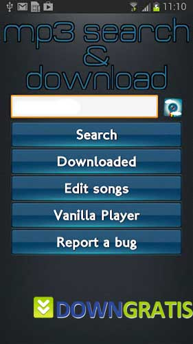 Tela do Mp3 Search and Download