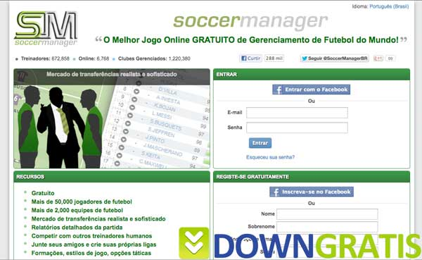 Tela do Soccer Manager