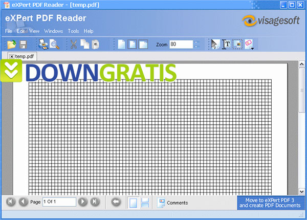 Tela do eXPert PDF Reader