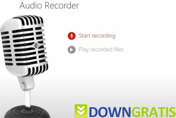 Tela do Audio Recorder
