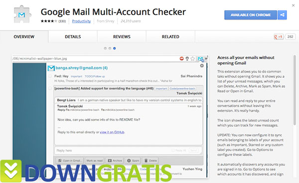 Tela do Google Mail Multi-Account Checker