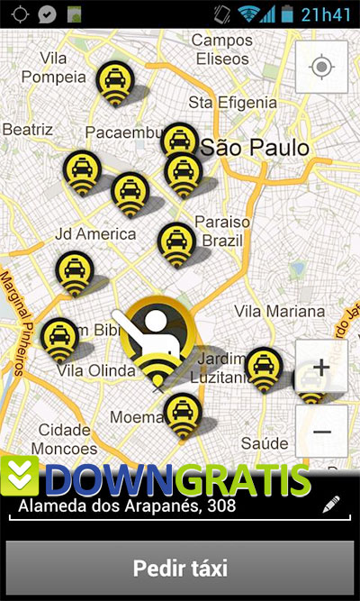 Tela do 99Taxis