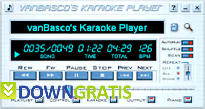 Tela do vanBascos Karaoke Player