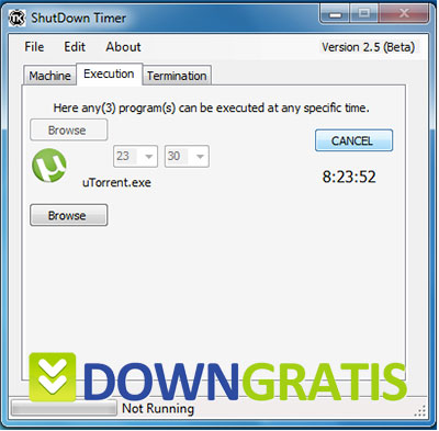 Tela do ShutDown Timer