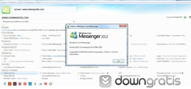 Imagem do MSN 2012