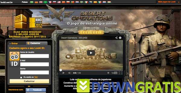 Tela do desert operations