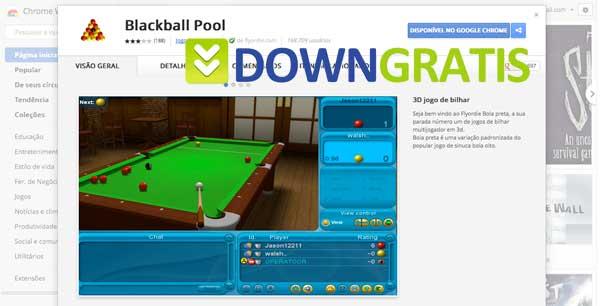 Tela do blackball pool