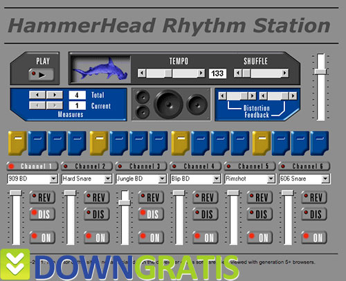 Tela do HammerHead Rhythm Station