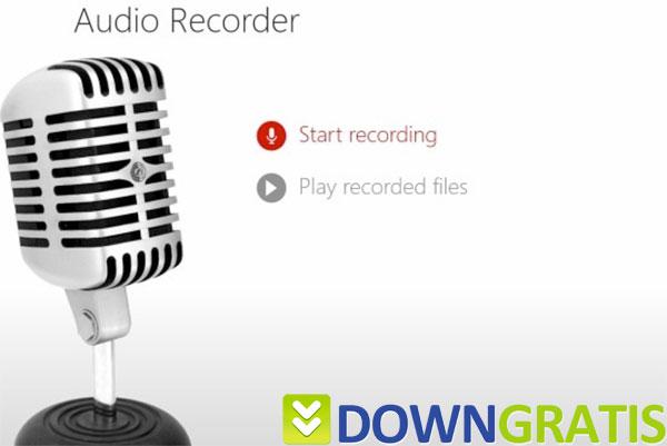 Tela do Audio Recorder