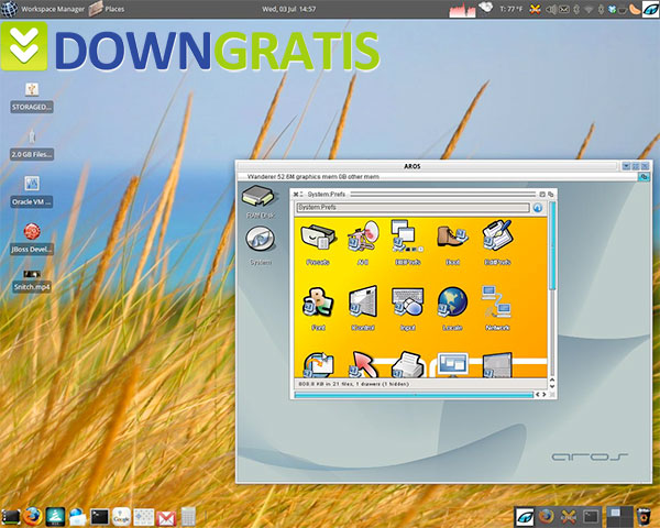 Tela do OS4 OpenLinux