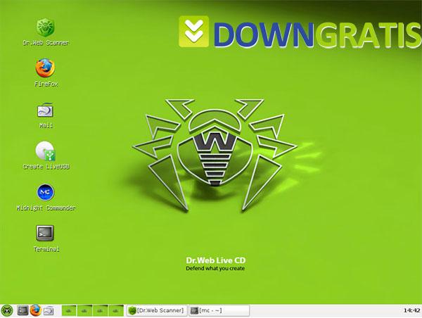 Tela do Dr.Web LiveCD