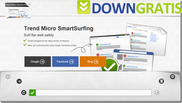 Tela do Trend Micro SmartSurfing