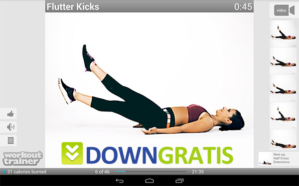 Tela do Workout Trainer