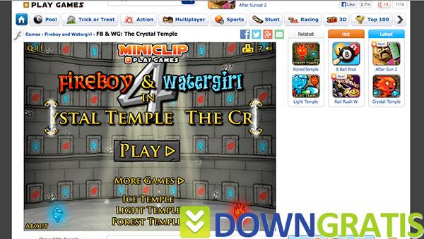 Tela do Fireboy & Watergirl in Crystal Temple