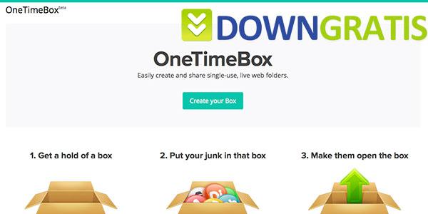Tela do OneTimeBox